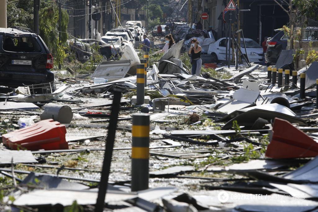 Улицы Бейрута после взрыва