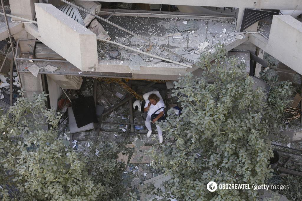 Поврежденные взрывом дома