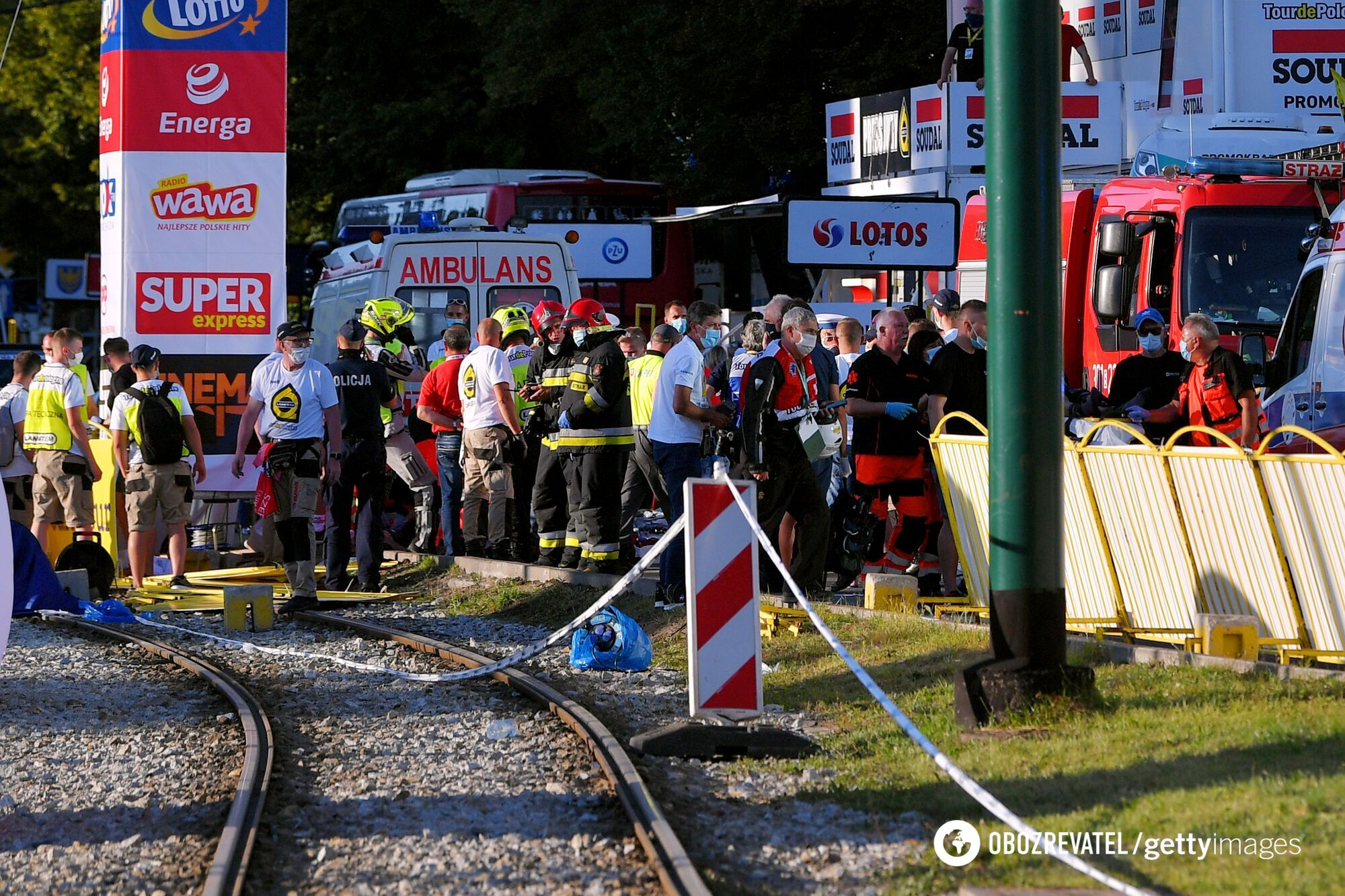 Велогонка Тур Польши: работают спасатели
