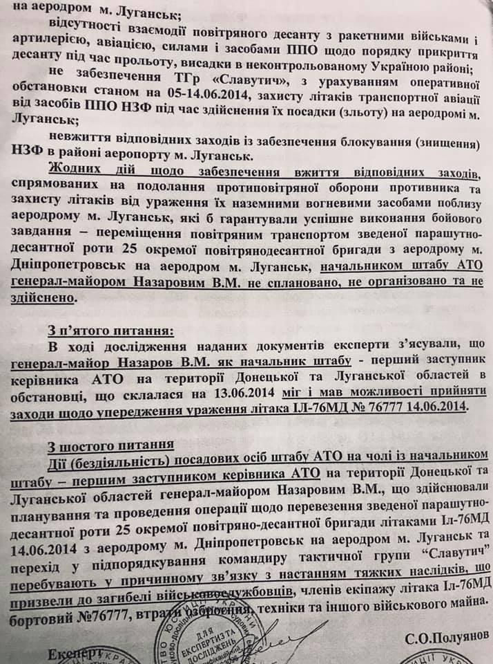 Заключение экспертизы по делу Назарова