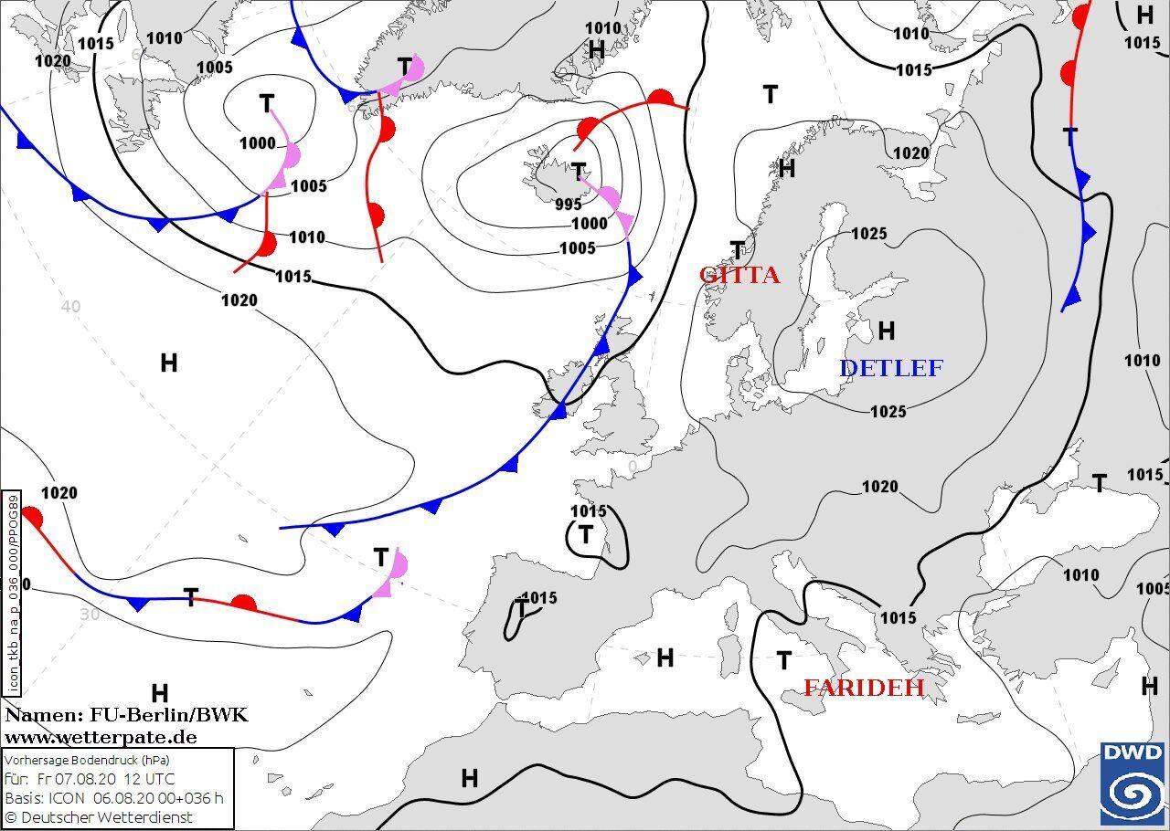 Карта погоды в Украине 7 августа, которую будет определять антициклон Detlef