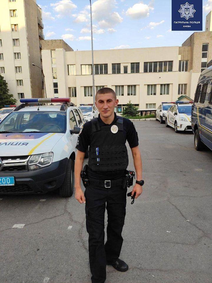 Правоохоронець, який врятував дівчину від самогубства у Києві