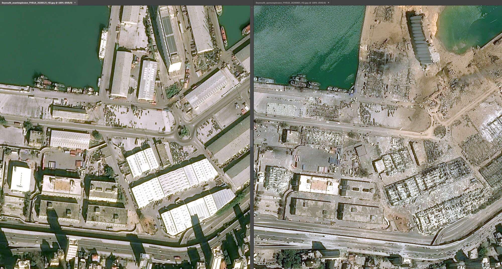 Почти все ангары в порту Бейрута разрушены, а на месте взрыва – огромная яма с водой