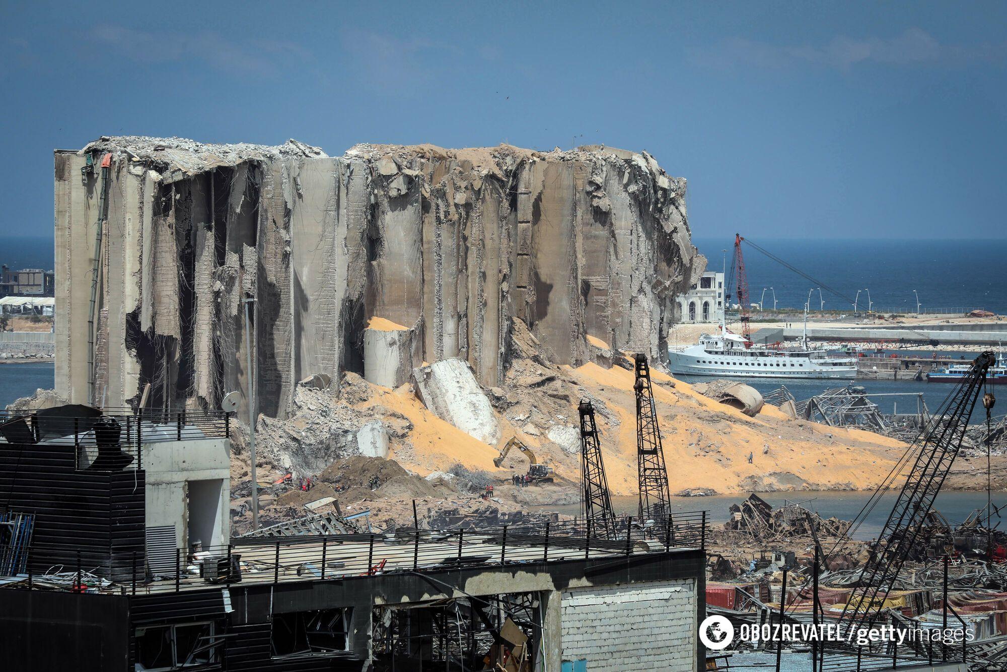 Порт Бейрута після вибуху 4 серпня 2020 року