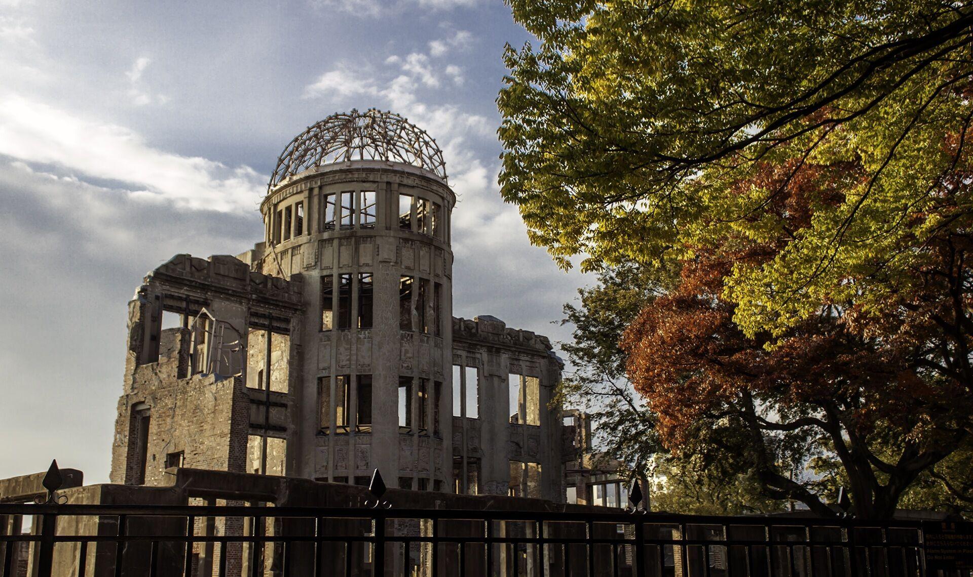 Знаменитий Купол Гембаку, який до Другої світової війни був Виставковим центром торгово-промислової палати Хіросіми
