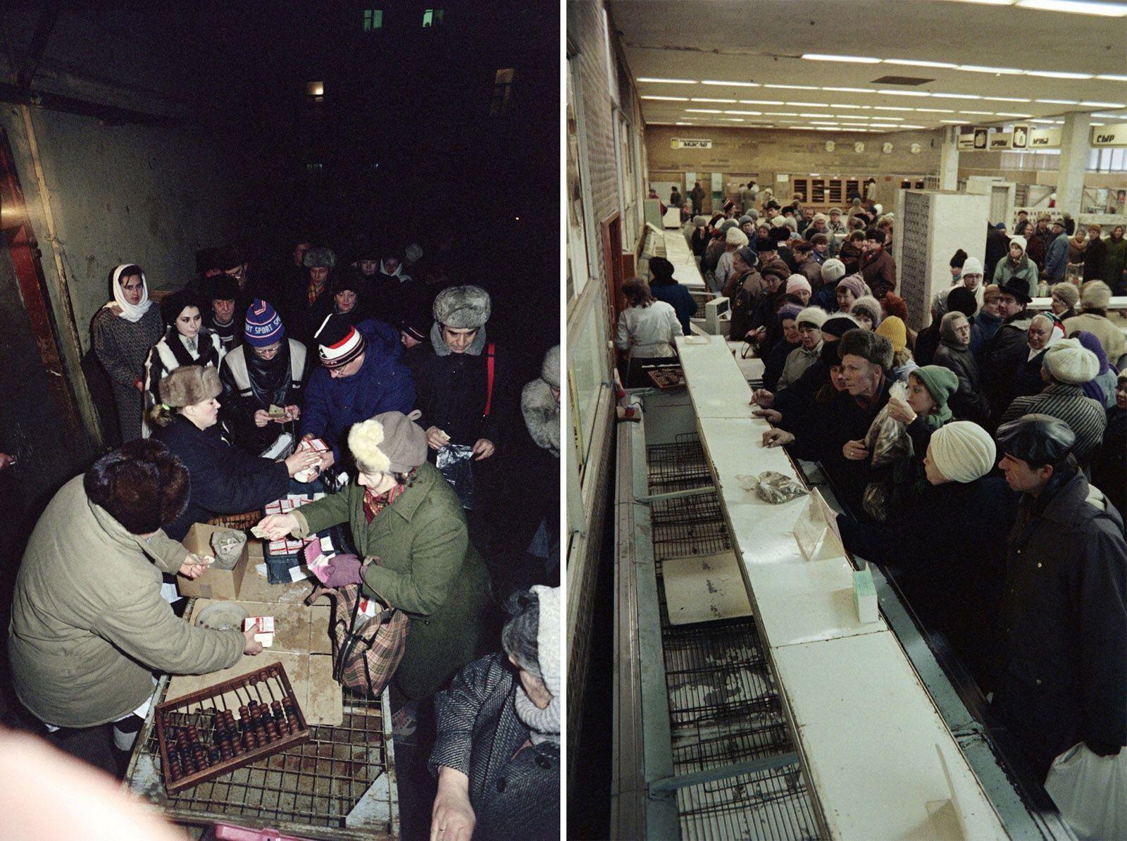 Советские очереди за едой