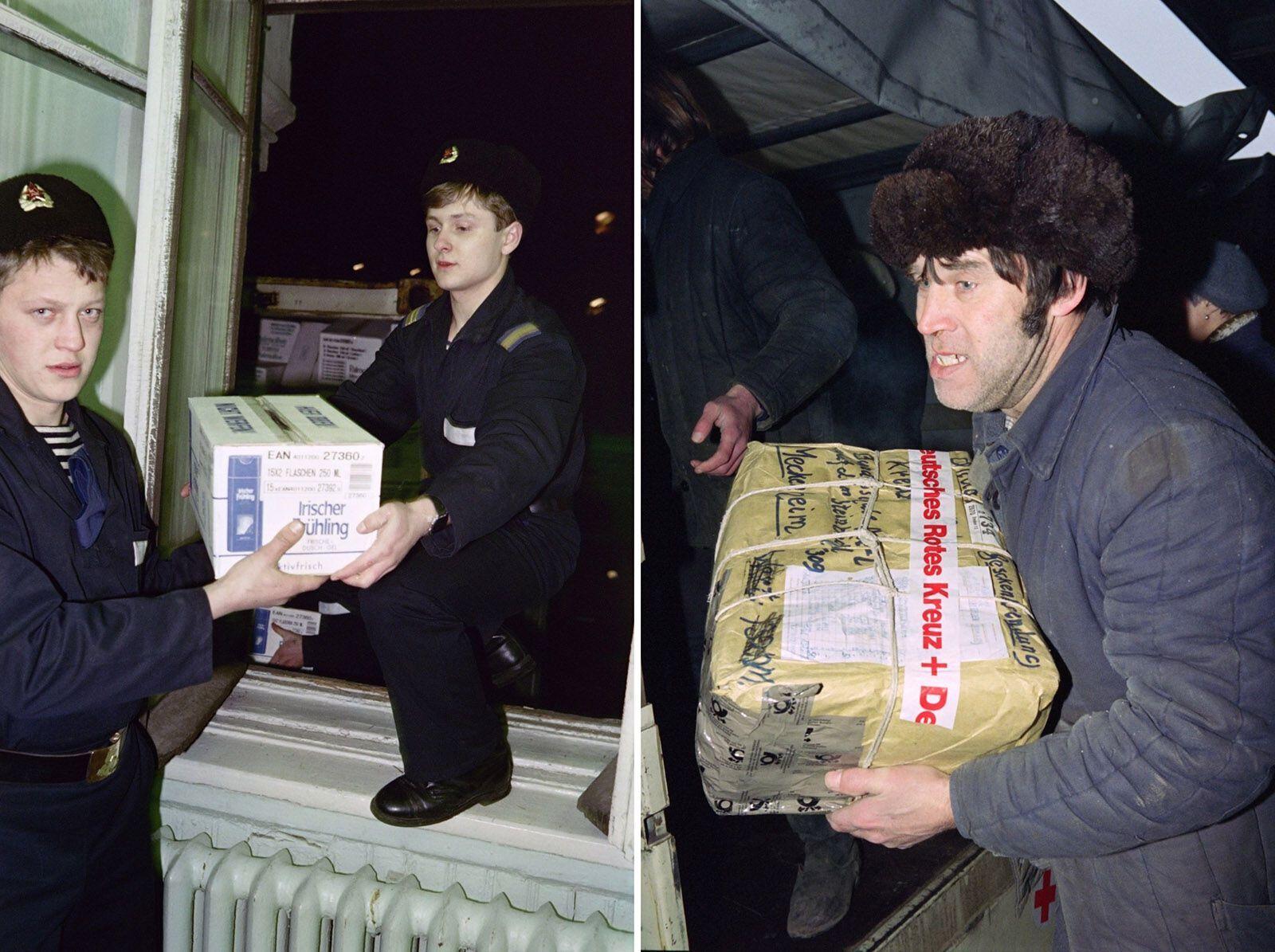 В последние годы существования СССР присылали гуманитарную помощь из западных стран