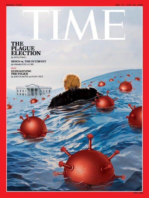 Обложка с Трампом