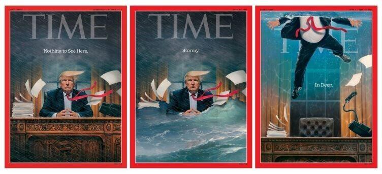 Обкладинки з Дональдом Трампом