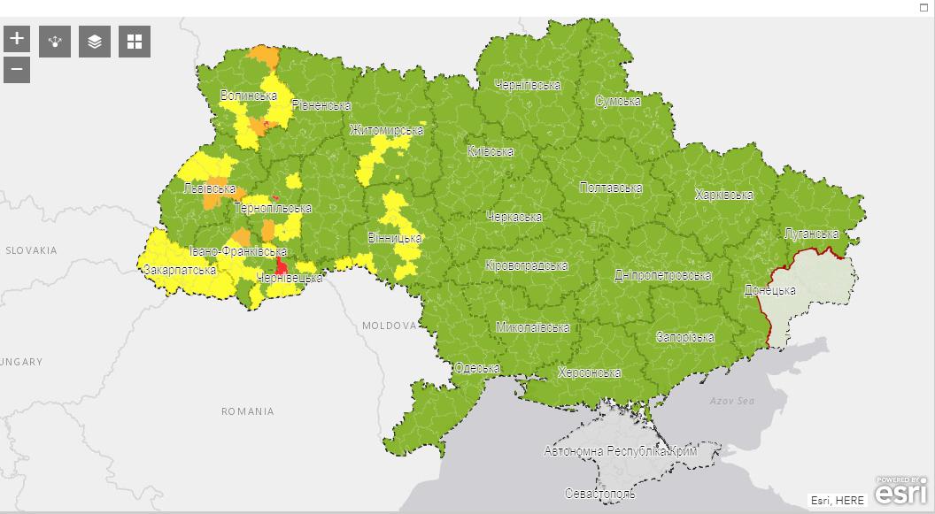 Карта от Минздрава