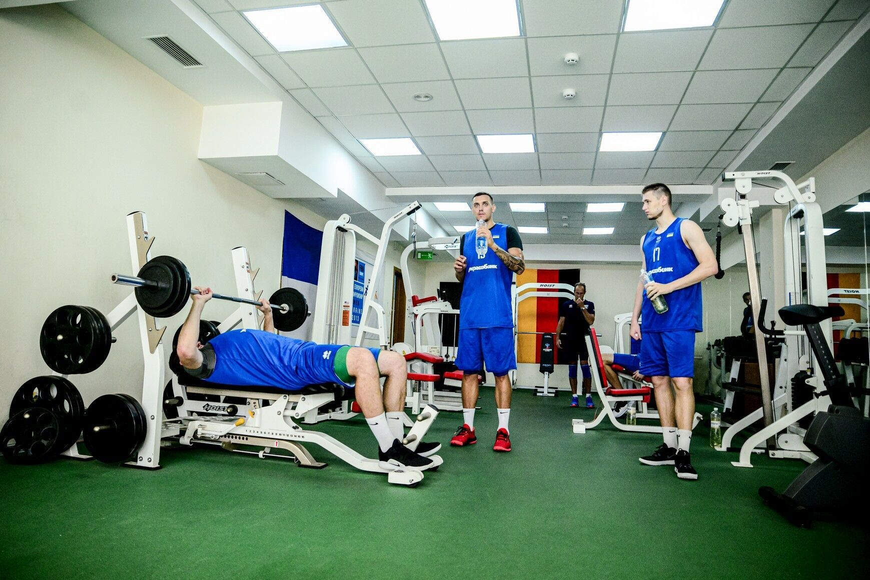 Мужская сборная Украины по баскетболу провела открытую тренировку в киевском Дворце спорта