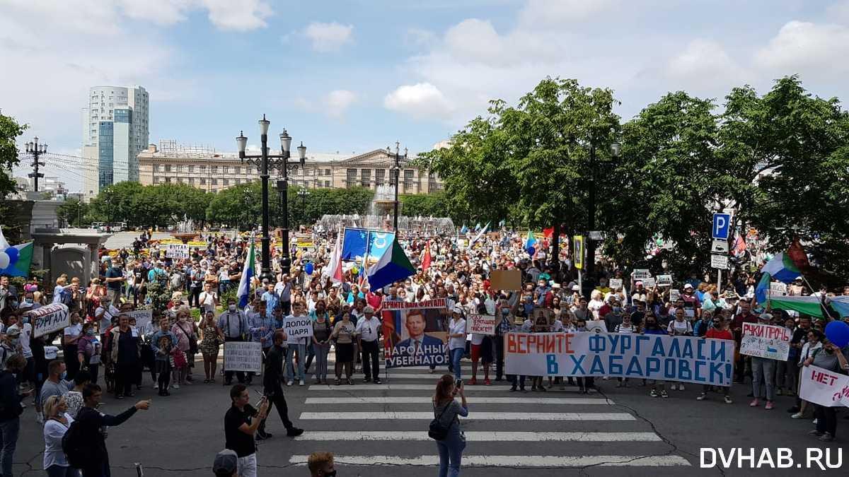 На мітинг вийшли близько 30 тисяч осіб