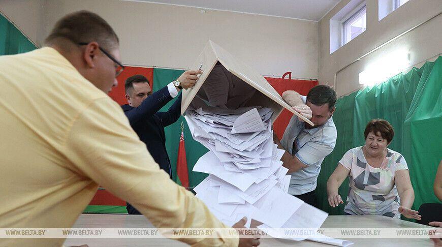 Подсчет голосов в Витебске.