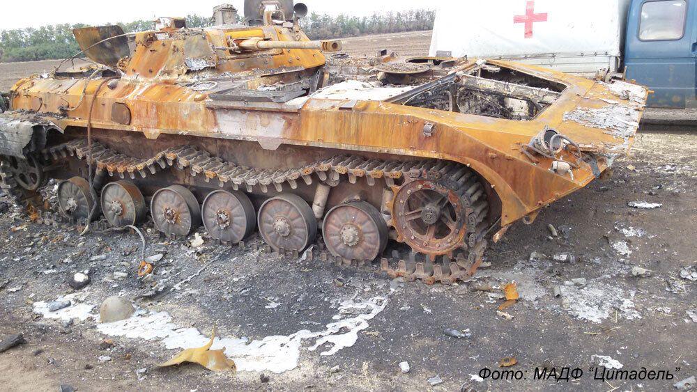 БМП, в якому намагався прорватися з оточення командир 51 бригади Павло Пивоваренко