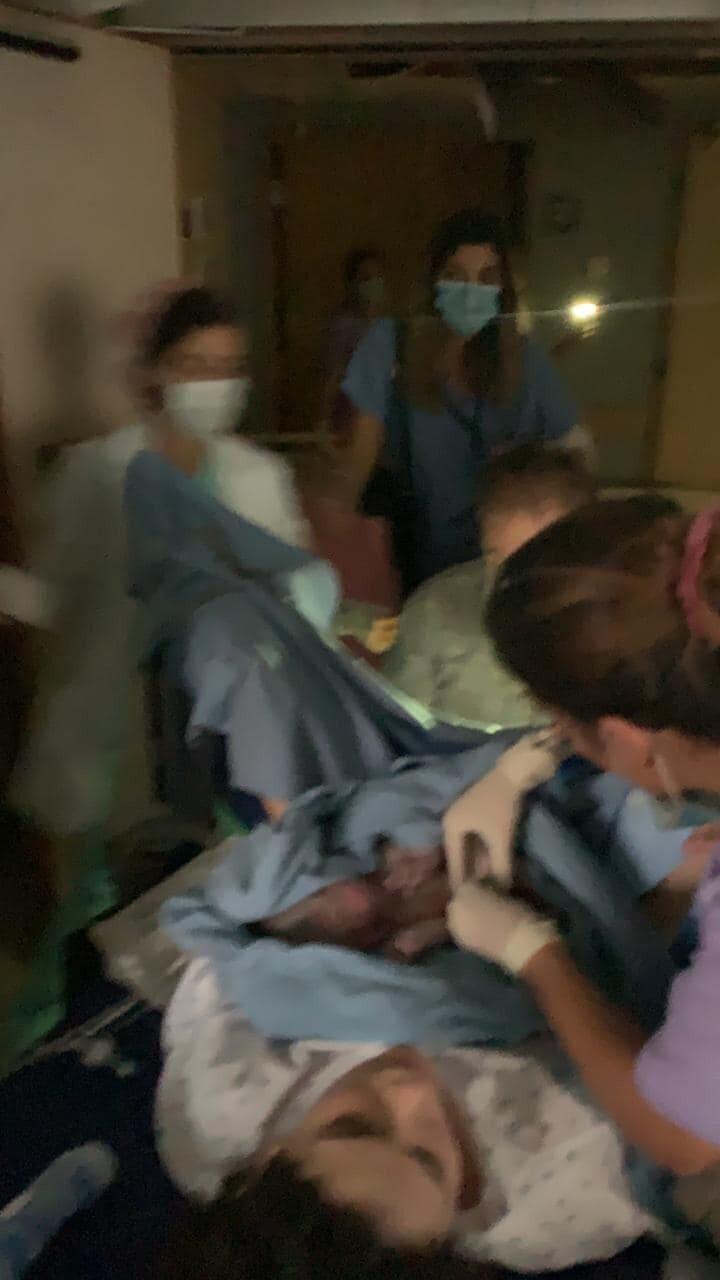 Мальчик родился сразу после взрыва.