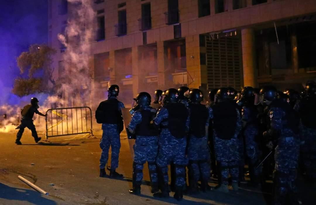 Протести в Бейруті.