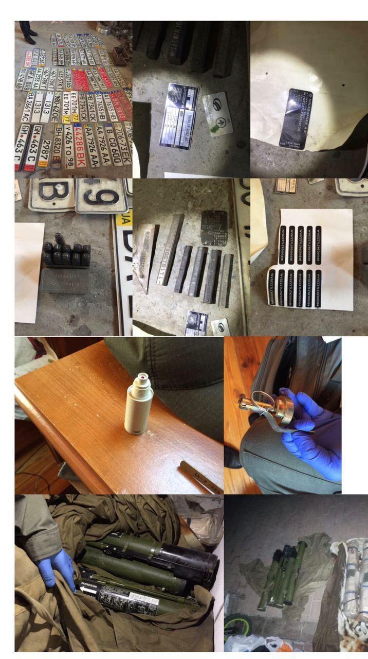 У задержанных обнаружили арсенал оружия.
