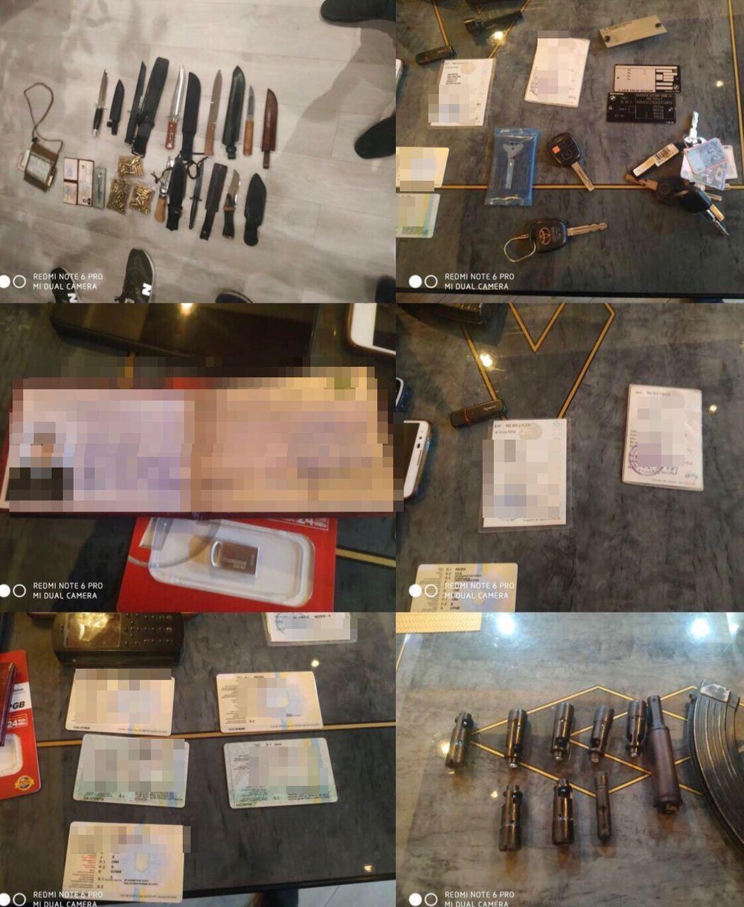 Результаты обысков у задержанных похитителей.