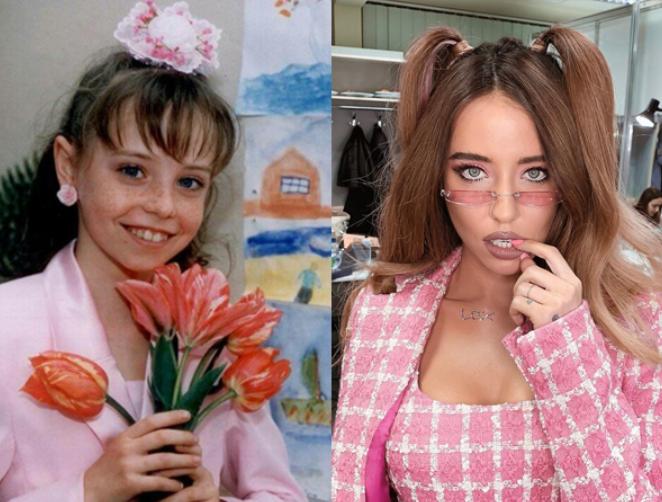 Надя Дорофеева в школьные годы