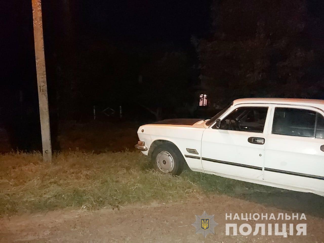Під Дніпром водій наїхав на поліцейського. Фото пресслужби ГУ НП в Дніпропетровській області