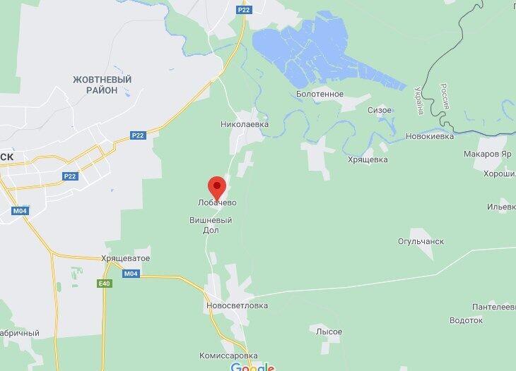 Військова техніка згоріла біля села Лобачеве.