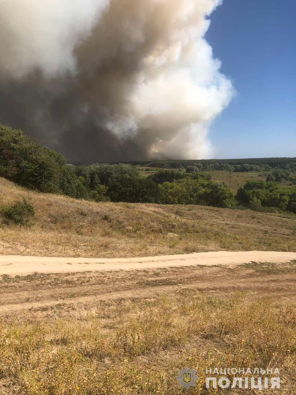 На Харьковщине вспыхнул лесной пожар.
