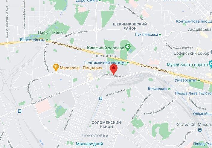 ДТП произошло на улице Борщаговская.