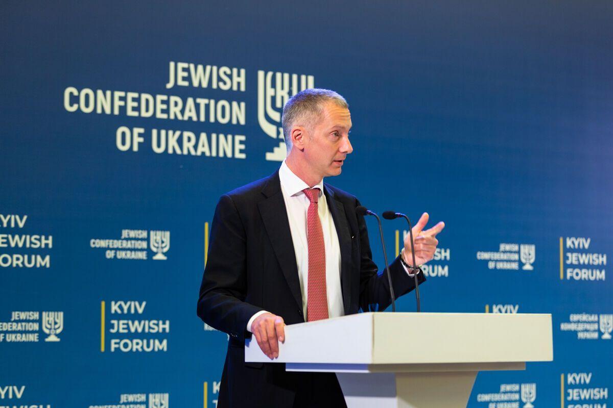 Президент Еврейской конфедерации Украины Борис Ложкин