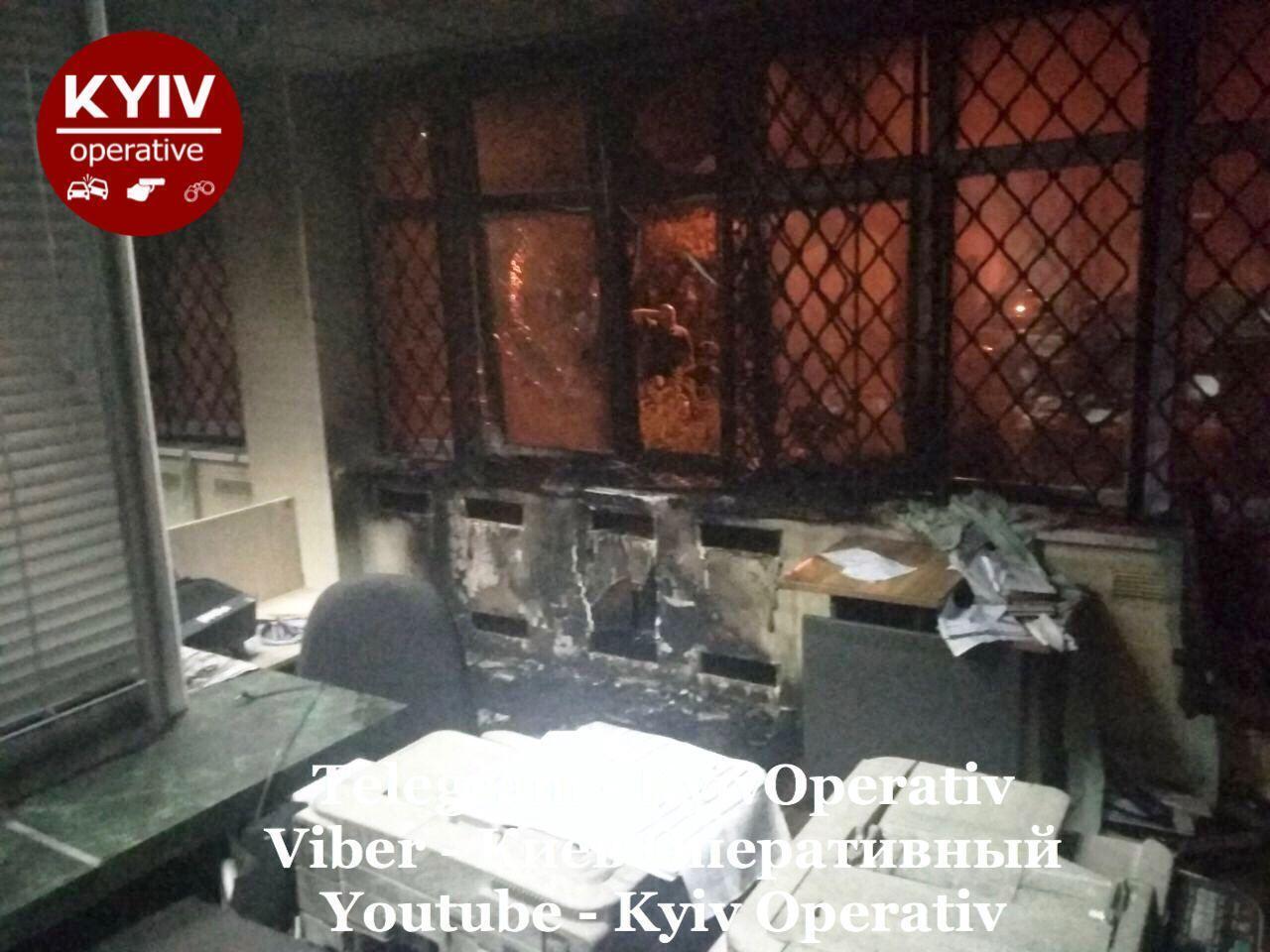 Пожежу в Ощадбанку було швидко ліквідовано