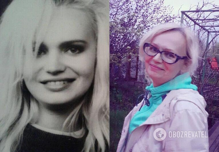 Світлана Костик в молодості і зараз.