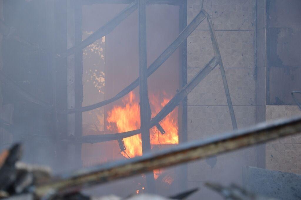 В Днепре на улице Капитальной случился пожар.