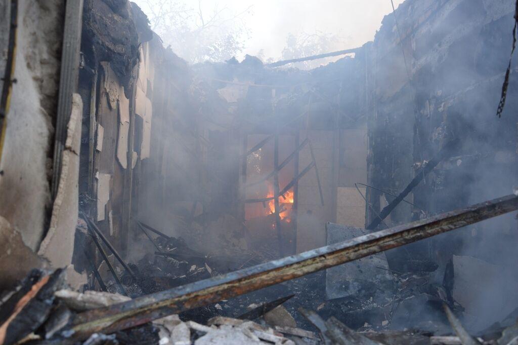 Загорелся частный дом.