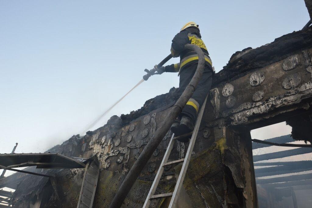 При пожаре пострадал владелец жилья.