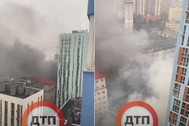 У Києві спалахнула пожежа в приміщеннях супермаркету