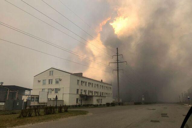 Пожар возле ЧАЭС