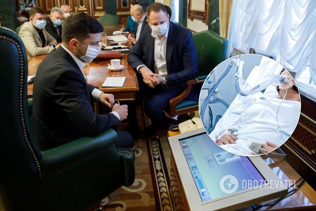 Владимир Зеленский на совещании