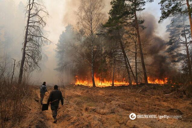 Пожар в Чернобыле