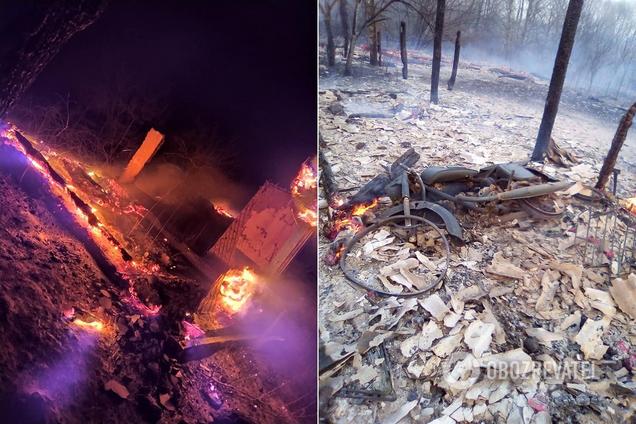 Последствия пожаров в Житомирской области