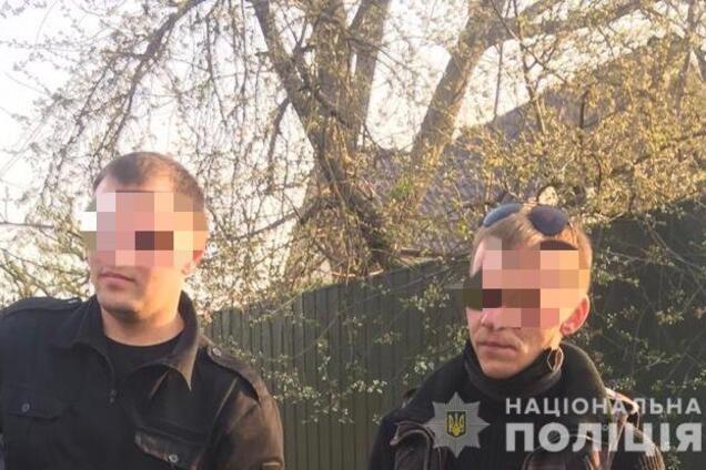 Задержание виновных в пожаре на Киевщине