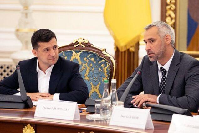 Володимир Зеленський і Руслан Рябошапка