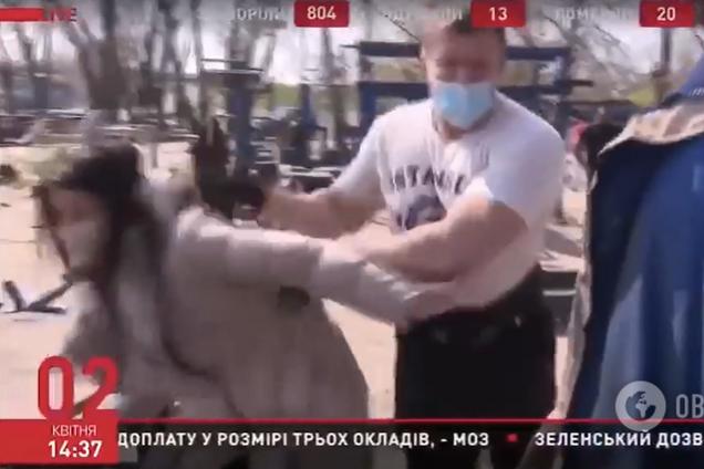 Поліція затримала нападника на журналістів телеканалу ZIK у Києві