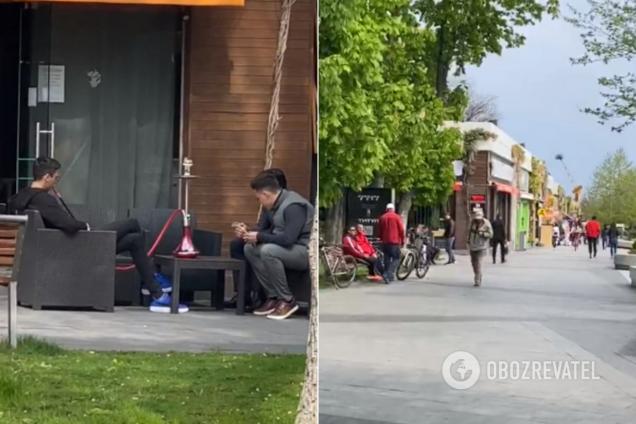 В Одессе нарушили карантин: люди ходят толпами и сидят в кальянной