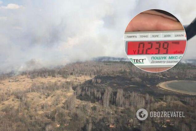 В Чернобыльской зоне пожар вспыхнул с новой силой