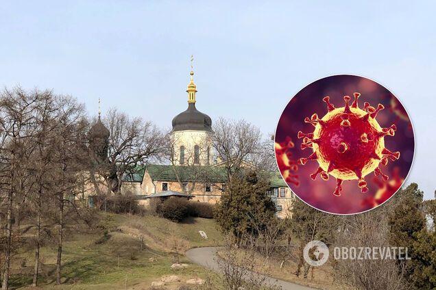 Коронавирус в монастыре Киева. Иллюстрация