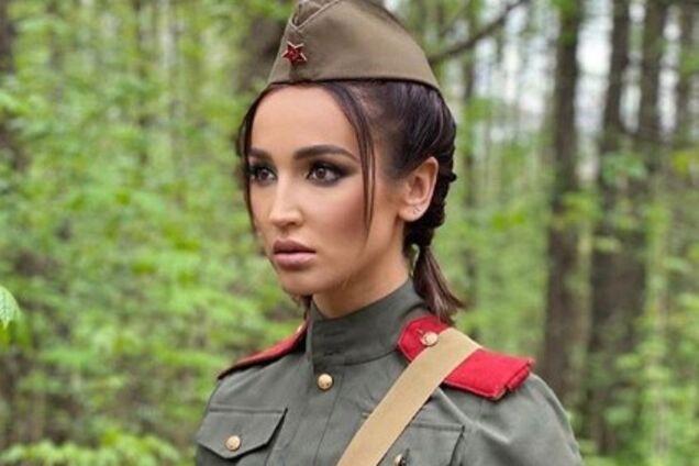 Ольгу Бузову раскритиковали за фотосессию в военной форме