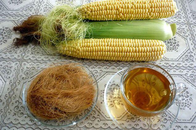 Чай з кукурудзяних рилець