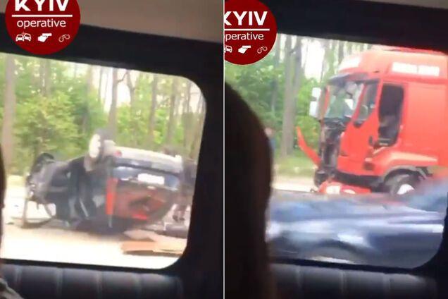 На трасі під Києвом трапилась смертельна ДТП з вантажівкою