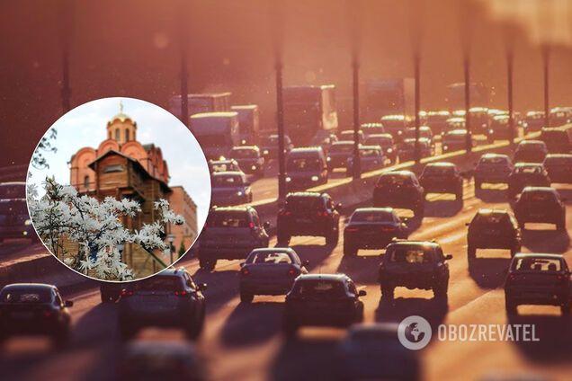 Київ після послаблення карантину скували масштабні затори. Ілюстрація
