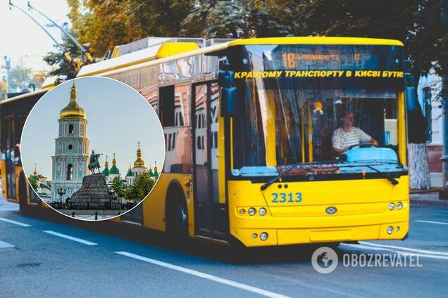 Общественный транспорт в Киеве. Иллюстрация
