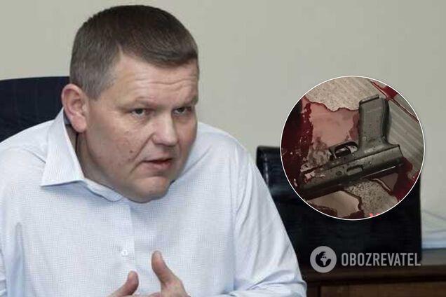 """Наградной пистолет """"Глок"""", найденный возле тела Давыденко"""